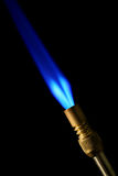 Torch. A heating torch on black royalty free stock photos