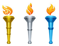Torch. On a white background Stock Image