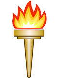 Torch. The Torch icon on a white background Royalty Free Stock Image