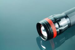 Torch black LED light Royalty Free Stock Photo