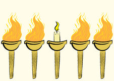 Torch with a candle Stock Image