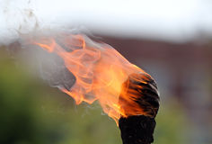 Torch. Closeup of nice burning torch Royalty Free Stock Photo