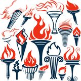 Torch Collection Royalty Free Stock Image