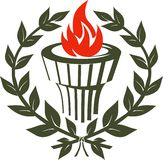 Torch Emblem Royalty Free Stock Photo