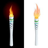 Torch fire, championship icon, a symbol of victory. Isolated vector illustration.. Flat 3d vector isometric illustration Royalty Free Stock Image