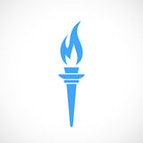 Torch fire vector icon. Illustration Royalty Free Stock Photos