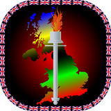 Torch with the flag Royalty Free Stock Photo