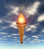 Torch flame sky Stock Images