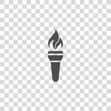 Torch flame vector icon Stock Image