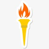 Torch Icon. Simple vector sticker Stock Image