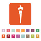 The torch icon. Torch symbol. Flat Stock Image