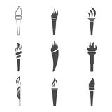 Torch icons Stock Photo