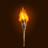 Torch illustration icon poster Royalty Free Stock Photo
