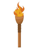 Torch isolated illustration Stock Image