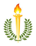 Torch with laurel wreath Royalty Free Stock Photography