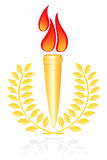 Torch with laurel-wreath. Royalty Free Stock Photography