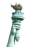 Torch Of Liberty. Isolated torch and hand of the Statue of Liberty royalty free stock images