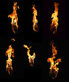 Torch like fire element collection Stock Photo