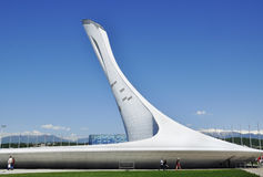 The torch of the Olympic flame at the Olympic Park in Sochi Royalty Free Stock Photography