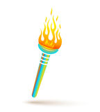 Torch for olympic games Royalty Free Stock Photography