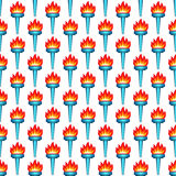 Torch pattern Royalty Free Stock Photo