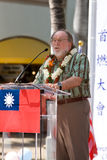 Torch of Peace - Rep of China Taiwan Centennial 2. Hawaii Governor Neil Abercrombie speaking at the Torch of Peace Lighting Ceremony of the Centennial Royalty Free Stock Photos
