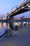 Torch on quay of the Moscow-river, Russia Royalty Free Stock Photography