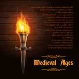 Torch Realistic Background Royalty Free Stock Photos