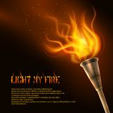 Torch Realistic Background Royalty Free Stock Photo