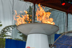 Torch relay Stock Photography