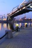 Torch sul quay del Mosca-fiume, Russia Fotografia Stock Libera da Diritti