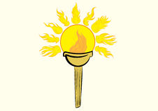 Torch with the sun Stock Photos