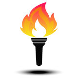 Torch Vector. Icon eps10 Stock Photo