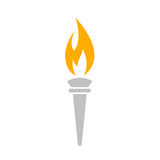 Torch vector icon. Isolated on white background Royalty Free Stock Images