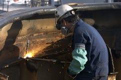 Torch work stock photo
