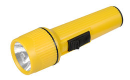 Torch. Yellow torch pocket lamp light royalty free stock photography