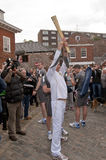 Torchbearer olympique Paul Giblin Photographie stock