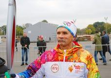 Torchbearer Vyacheslav Bocharov Zdjęcie Stock