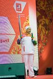 Torchbearer Vyacheslav Bocharov Stock Photography