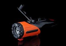 Torche électrique avec la dynamo Photo stock
