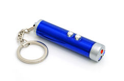 Torche électrique avec un laser Images stock