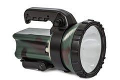 Torche électrique, d'isolement sur le fond blanc Photo libre de droits