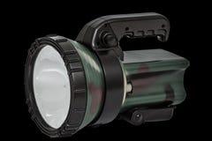 Torche électrique, d'isolement sur le fond blanc, avec le chemin de coupure Image libre de droits