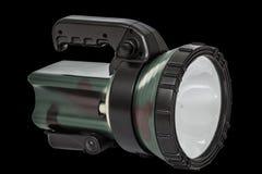 Torche électrique, sur le fond noir, avec le chemin de coupure Photos libres de droits