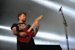 Torche band live concert in Hellfest 2016. Torche is an American band from Miami, Florida, whose sound is often described as stoner metal or sludge metal Stock Photos