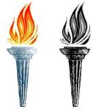 Torche brûlante illustration de vecteur