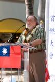 Torche de paix - préposé du service du Centennial 2 de la Chine Taiwan Photos libres de droits