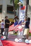 Torche de paix - préposé du service du Centennial 6 de la Chine Taiwan Photographie stock libre de droits
