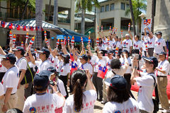 Torche de paix - préposé du service du Centennial 9 de la Chine Taiwan Photographie stock libre de droits