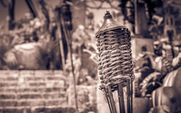 Torche on Mexican graveyard Royalty Free Stock Photo